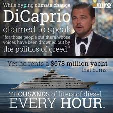 Climate Change Meme - latest liberal lies about climate change advocate hypocrisy