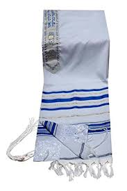 tallis prayer shawl 24 72 blue silver or blue gold