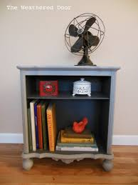 Weathered Bookcase Two Toned Small Grey Bookshelf The Weathered Door