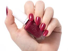essie bridal gel couture nail polish in berry in love uñas