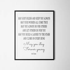 Dylan Mini Crib by Bob Dylan Print Quote Printable May You Stay Forever Young