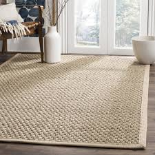 B And Q Rugs Safavieh Casual Natural Fiber Natural And Beige Border Seagrass
