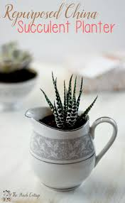 How To Make A Succulent Planter by Succulent Planter From Repurposed China An Easy Diy Gift Idea