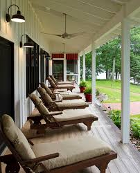 porch lighting ideas porch rustic with patio furniture chaise