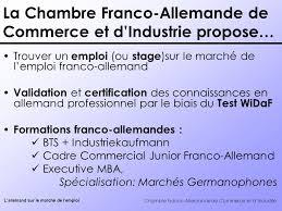 chambre de commerce allemande chambre franco allemande de commerce et d industrie l allemand sur