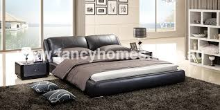 Italian Leather Bedroom Sets Edmund Italian Leather Bed Frame L Fancy Homes House Ideas