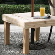 umbrella stand side table make a side table umbrella stand my home my style enotes amazing