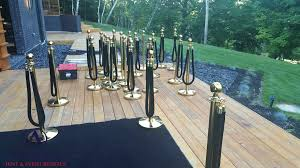 stanchion rental allcargos tent event rentals inc gold stanchion post rope