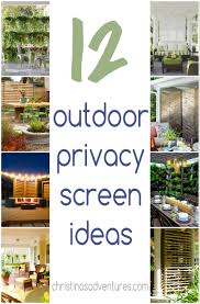 outdoor privacy screen ideas outdoor privacy decking and patios