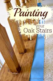 what of paint do you use on oak cabinets painting oak stairs for a fresh update c mon get crafty