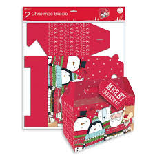 pack of 2 flatpack gift boxes great for christmas eve boxes