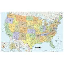 Wallpops 24 In X 36 In Dry Erase Usa Map Wall Decal Wpe99073