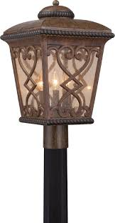 Antique Outdoor Lighting Quoizel Fq9011aw Fort Quinn Traditional Antique Brown Outdoor Lamp