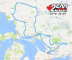 Algonquin Map Cannonball Rides 2500 Km Fall Motorcycle Rides