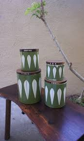 Canisters For Kitchen Counter by Vintage Green Cathrineholm Kitchen Storage Canisters Lotus