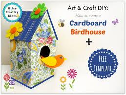 How To Make A Decorative - how to make a decorative cardboard bird house crafts house art