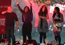 photos of the sugababes and the x factor finalists turning on the