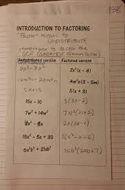 beautiful math factoring polynomials algebra one