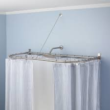 Copper Pipe Shower Curtain Rod Stylish Shower Curtain Rods Signature Hardware 90 Degree Shower