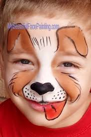 simple dog face paint f11b6c77381a7b1b11d2e5041443b75f puppy