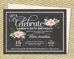 bridal brunch invitations bridal brunch invitations chalkboard floral bridal shower