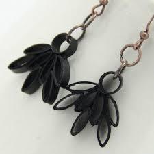 eco friendly earrings eco friendly earrings black lotus by honeysquilling on zibbet