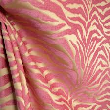 Houston Upholstery Fabric Serengeti Pink Animal Print Chenille Upholstery Fabric Pink