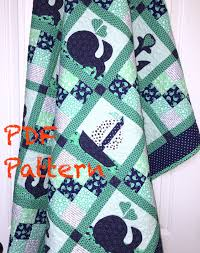 Nautical Quilt Nautical Baby Quilt Pattern Sailboat Baby Boy Quilt Pattern