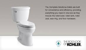 Kohler Cimarron Elongated Comfort Height Toilet Cimarron Comfort Height The Complete Solution Elongated 1 28 Gpf