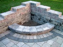 Stone Firepit by Awesome Corner Fire Pit Decoration Ideas Feature Gray Stone Wall