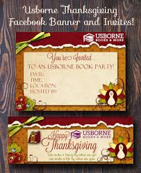 thanksgiving usborne thanksgiving bannerd invitations