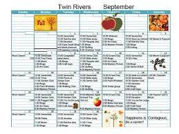assisted living activities calendar marian estates activity