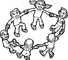 children playing children coloring page wecoloringpage