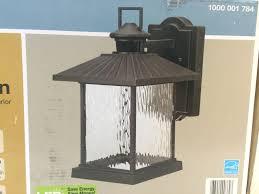Hampton Bay Exterior Wall Lantern by No5 Hampton Bay Lumsden Outdoor Black Led Motion Sensor Wall Mount