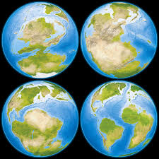 Earth Globe Map World by Prehistoric Globes Illustrations Showing The Earth During The