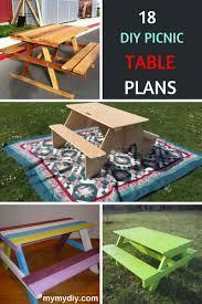 build a picnic table 18 family fun diy picnic tables list mymydiy inspiring diy