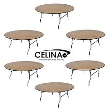 Celina Tent 72 Round Table Event Tables Laminate Resin Wood Event Furniture