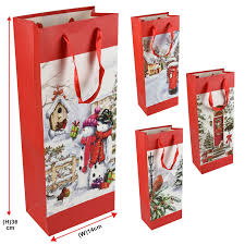 christmas paper bags traditional christmas paper carrier present gift bags winter