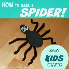 how to make a spider kids crafts applegreen cottage