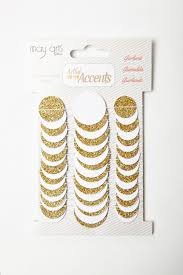 gold glitter dot paper garland may arts wholesale ribbon