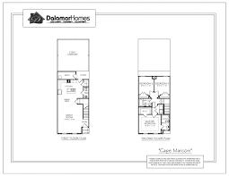 the cape marconi pleasant view town homes dalamar homes floorplans