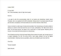 Letter Of Commendation Sample Letter Of Recommendation For Scholarship 29 Examples In