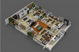 Floor Plan For Residential House 4 Bedroom Apartment House Plans