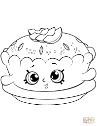 apple pie shopkin coloring page free printable coloring pages