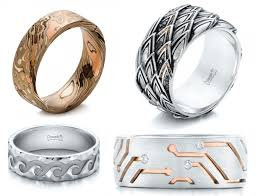 mens wedding rings scales and circuit boards 10 custom designed