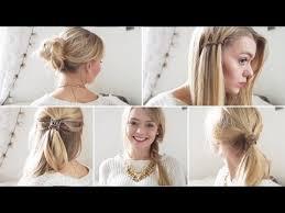 Einfache Elegante Frisuren F Lange Haare by Fünf 5 Minuten Frisuren Einfache Frisuren Für Schule Uni