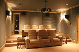 home theater screen fabric large screen on the wall added by red fabric curtains and black