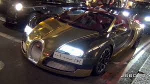 gold bugatti gold chrome bugatti veyron on the road in london revs and sounds