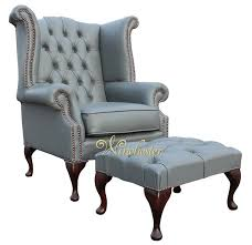 Queen Anne Wingback Chair Leather Chesterfield Queen Anne High Back Wing Chair Uk Manufactured Vele