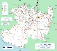 Maps De Mexico by Map Of Michoacan State Mexico
